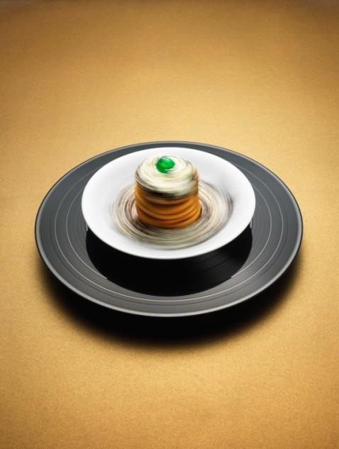 Pancakes, chocolate mousse & cream.